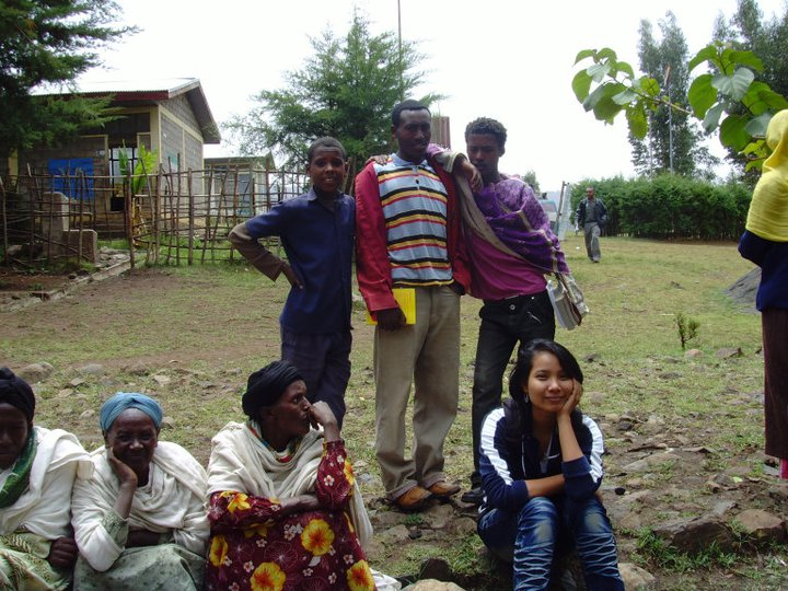 Nila in Ethiopia on a reporting assignment